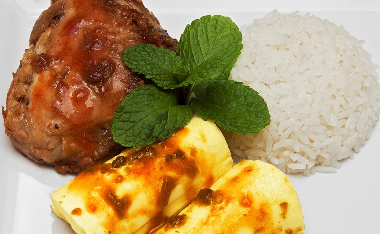 Free-range Hen with Cassava